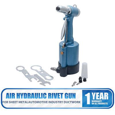 Air Hydraulic Pro Rivet Gun Pop Riveter Power Tool Set Kit Metal Workshop Hot