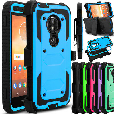 Kickstand Case - For Motorola Moto E5 Play/Cruise Phone Case Hybrid Clip Holster Kickstand Cover
