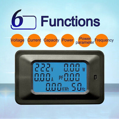 100a Ac Lcd Digital Panel Power Watt Meter Monitor Voltage Voltmeter Ammeter