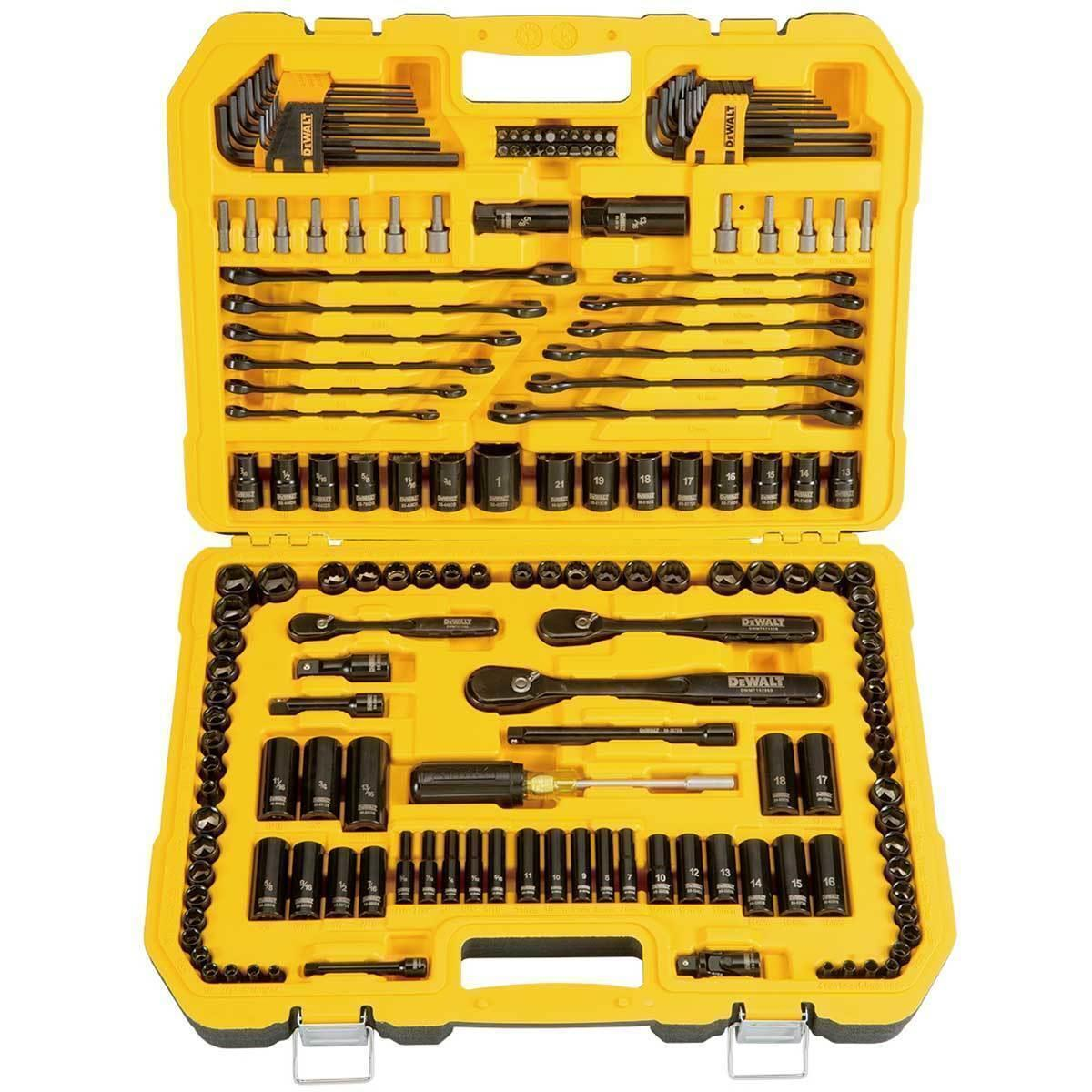 DEWALT 181 Piece Mechanics Tool Kit Spanner Socket Set Ratch