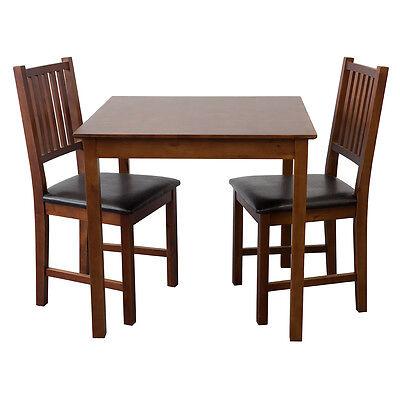 Tischgruppe Tisch LUCCA Tisch  + 2 Stühle massiv Nussbaum Esstisch Gastro