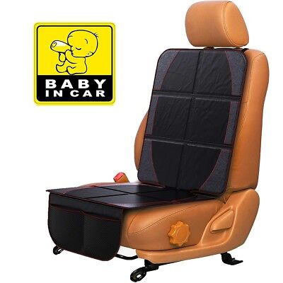 Car Seat Protector - Thickest Padding -  Best Protection For Your Kids &