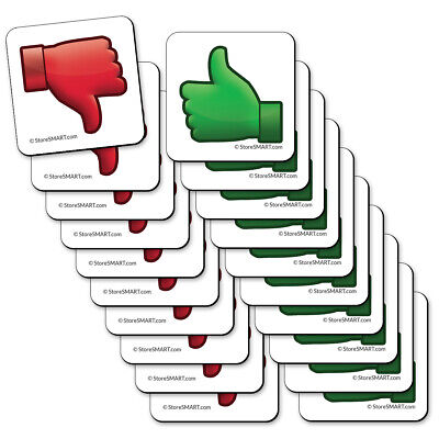 StoreSMART - Thumbs Up, Thumbs Down Magnets - 1 1/4