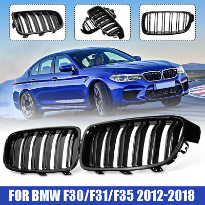 Front Hood Kidney Grill Grille Black Twin Line For BMW F30/F31/F35 12-17 2013