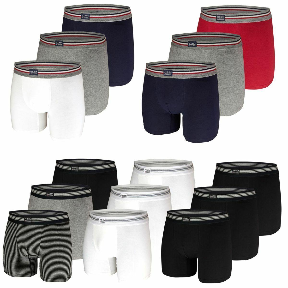 Jockey Herren Boxershorts 3er Pack Boxer längeres Bein Shorts Boxer Unterhosen