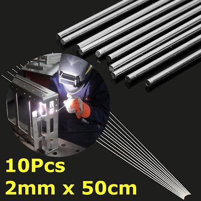 10pcs 2mm 50cm Metal Aluminum Magnesium Silver Welding Rods Wire Electrode