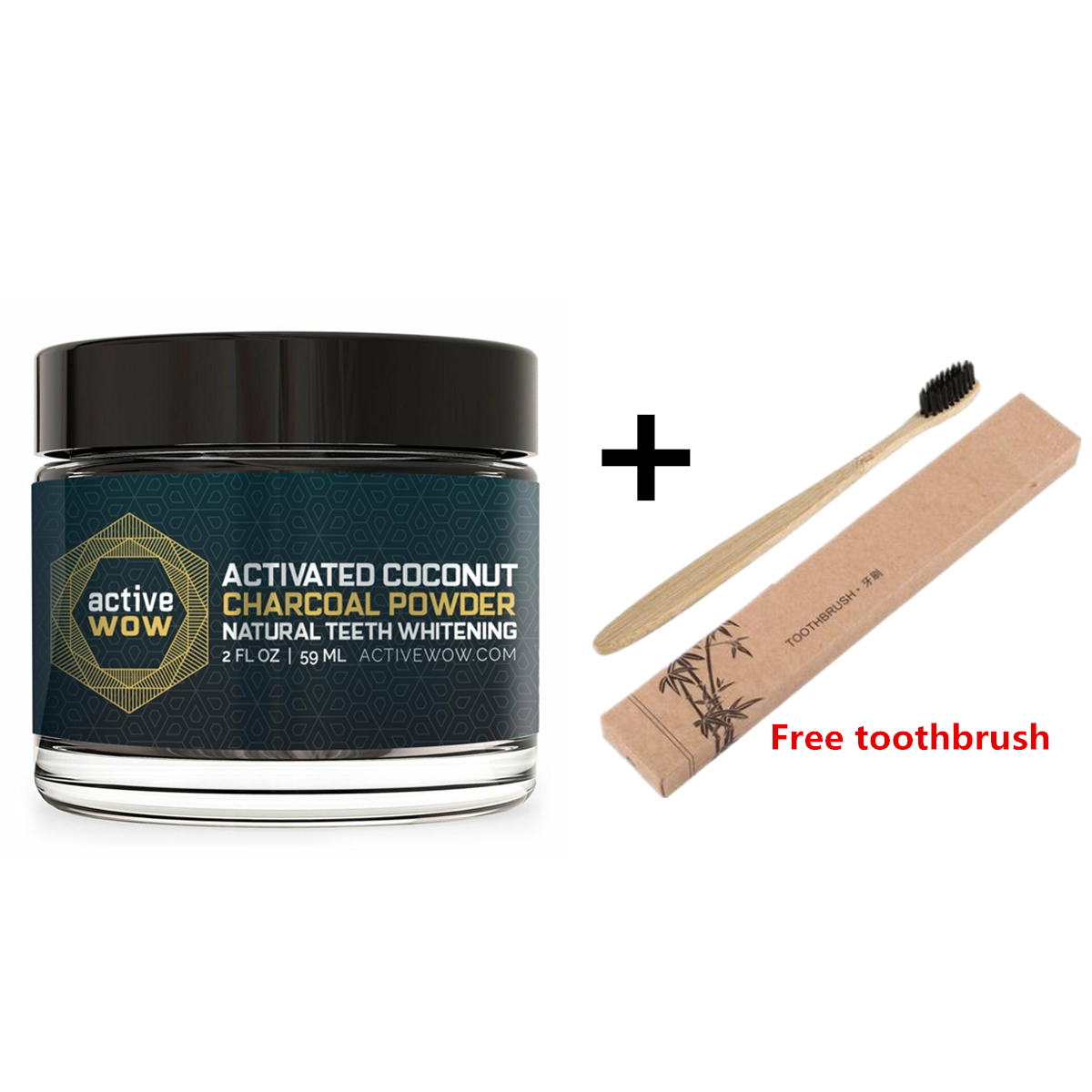Active Wow Teeth Whitening - Activated Charcoal Powder -