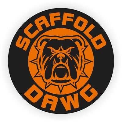 Scaffold Dawg Hard Hat Helmet Sticker / Safety Harness Builder Decal Scaff Dog
