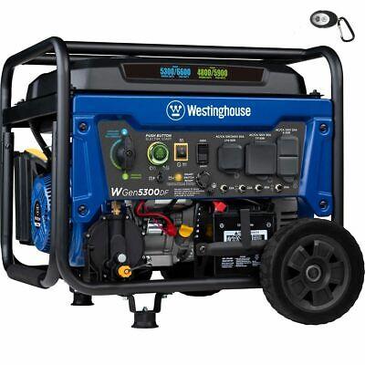 Westinghouse Wgen5300df - 5300 Watt Electric Start Dual-fuel Portable Generat...
