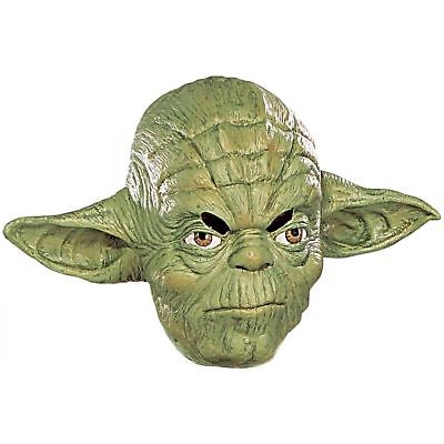 NWT~RUBIE'S~STAR WARS ~ YODA ~ CHILD MASK ~ VINYL ~ #3477 ~ DISNEY ~ LUCAS FILMS - Films Halloween Disney