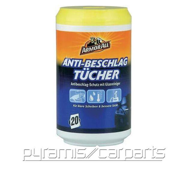 NEU 1x ARMOR ALL 15020L Anti-Beschlag-Tücher für klare Scheiben (€12,50/SET)