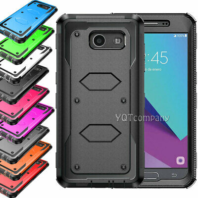 For Samsung Galaxy J3 2017/Emerge/Prime Shockproof Hybrid Heavy Duty Case Cover