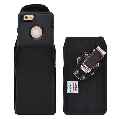 Turtleback iPhone 6 Vertical Nylon Pouch Holster Metal Clip Fits Lifeproof Case Case Pouch Holster