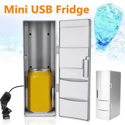 USB Mini Fridge Refrigerator Beverage Drink Can Cooler Warmer Freezer