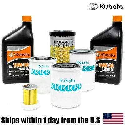 Genuine Oem Kubota B3000 B3030 B3200 B3300 Hst Filter 10w-30 Oil Maintenance Kit