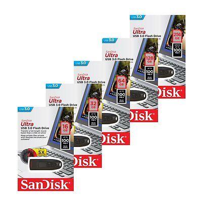 Sandisk 16/32/64/128/256GB CZ48 Ultra USB 3.0 Flash MEMORY Drive Speicherstick online kaufen