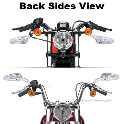 Motorcycle Chrome Rearview Side Mirrors For Harley