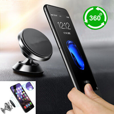 For Iphone Samsung Gps Universal 360  Magnetic Car Mount Cell Phone Holder Stand