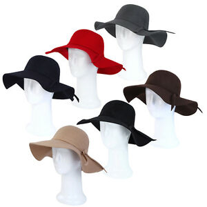 Women-039-s-Deluxe-100-Wool-Foldable-Floppy-Hat-Different-Colors