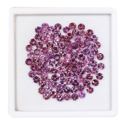 100 Pcs 4mm Natural Rhodolite Garnet Round Cut Top Quality Dazzling Gemstones