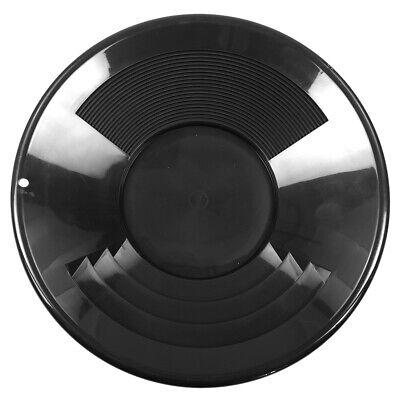 14 Black Plastic Gold Pan W Shallow Deep Riffles For Gold Prospecting