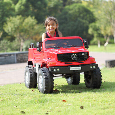 12V Battery Remote Kids Ride on Truck Electric Car Toys Gift W/LED Lights Red