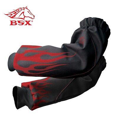 Revco Xtenders Fire Resistant Fr Welding Sleeves Redblack Bx9-19s-bk