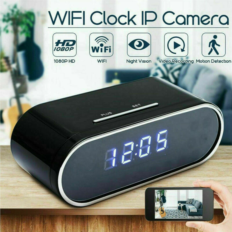 1080P Spy Camera WiFi Hidden Wireless Night Vision Security Nanny Cam Alarm USA
