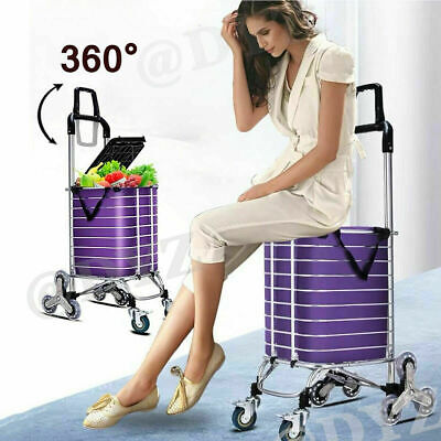 Stair Climbing Cart Heavy Dutyshopping Carts For Groceries With Tri-wheelsswiv
