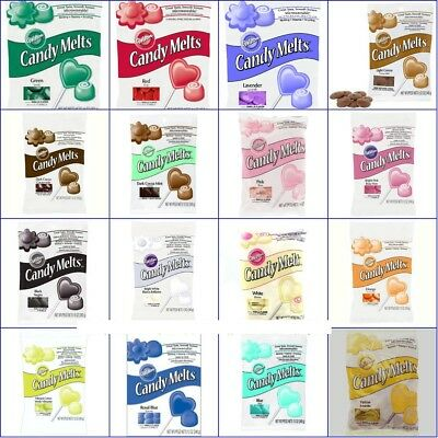 Green Candy Melts (Wilton Candy Melts 12 oz Bag Vanilla Cocoa Red White Chocolate Blue Pink Green)