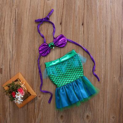 2PCS Princess Baby Girl Little Mermaid Sequins Bikinis Swimwear Costume - Baby Little Mermaid Costume