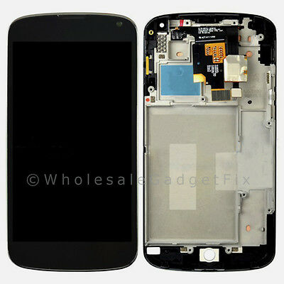 New LG E960 Google Nexus 4 LCD Touch Digitizer Screen Assembly + Frame Parts USA