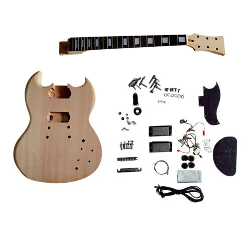 Coban Guitars DIY Electric Guitar kit SG5M Plain Mahogany Body and Set in Neck