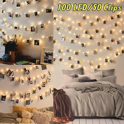 100LED Luci Led per Foto Polaroid - 10M Lucine Led Decorative per Camere Porta