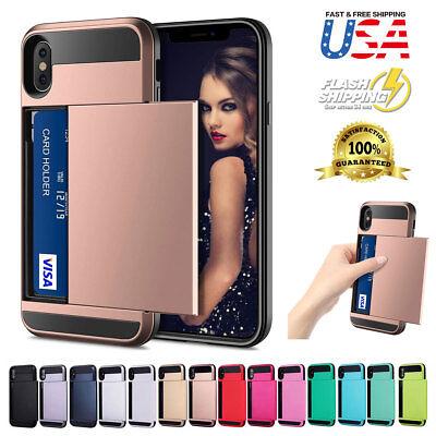Shockproof Wallet Credit Card Holder Case Cover Fits Apple iPhone XS (Card Holder Case Cover)