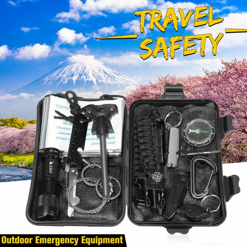 13 in 1 Outdoor Emergency Camping Trip Survival Equipment Ki