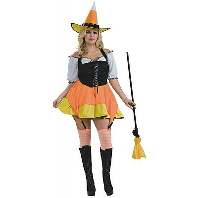 Candy Corn Costumes (Candy Corn Witch 3-Piece Set Costume Halloween Fancy)