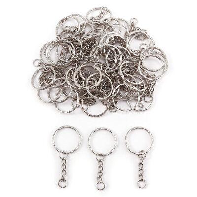 50-100pcs Llavero anilla con cadena plateado para Llave Hama beads regalo