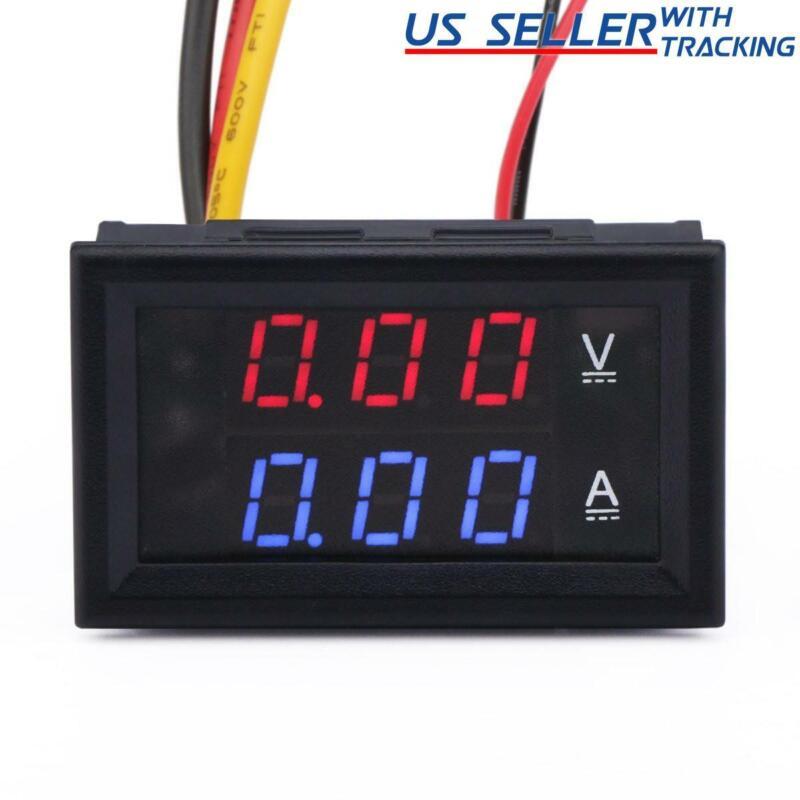 DC 100V 10A Voltmeter Ammeter LED Dual Volt Amp Meter Voltage Current Tester