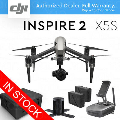 DJI INSPIRE 2 Camera Drone w/ Zenmuse X5S 4K & 5.2K Video 20.8MP Photo 15mm Lens