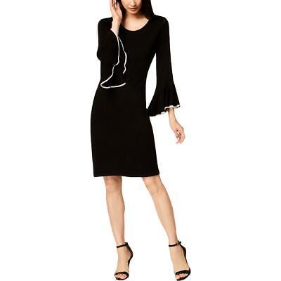 Calvin Klein Women's Contrast Trim Bell Sleeve Sweaterdress