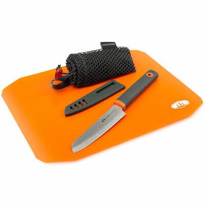GSI Outdoors Santoku Cut+Prep Rollup Cutting Board  Knife Set
