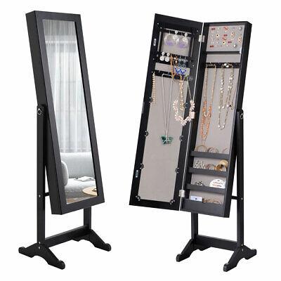 Jewelry Mirrored Cabinet Armoire Organizer Storage Box w/ St