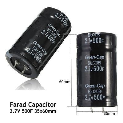1pc Farad Capacitor 2.7v 500f 3560mm Super Capacitor Lbs New