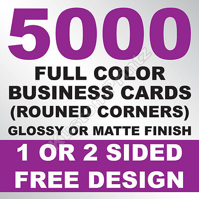 5000 CUSTOM FULL COLOR BUSINESS CARDS | 16PT | ROUNDED CORNERS | FREE - Business Cards Rounded Corners