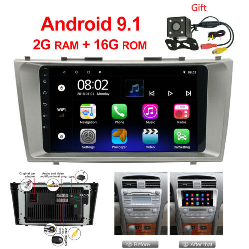 For Toyota Camry 2007 - 2011 2 din Android 9.1 Car Stereo Radio Video Player GPS