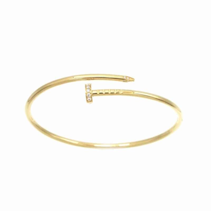 Cartier Juste Un Clou Diamond Bracelet #16 K18 Yellow Gold 750 90128880