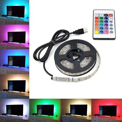 Beleuchtung Band (1-5m RGB USB LED Streifen TV Hintergrundbeleuchtung  Leiste Fernseher Licht-Band)