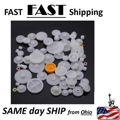 62 Kinds Plastic Shaft Single Double Reduction Crown Worm Gears M0.5 For Robot