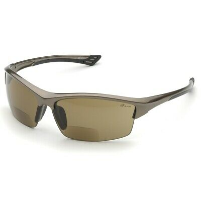 Elvex Rx-350br-1.5 Bifocal Readers Safety Glasses With Brown 1.5 Diopter Lens